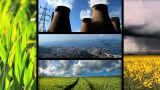 Montage Of Moving Images Of Biofuel Production & Use stock footage