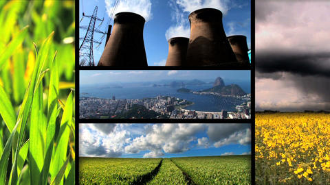 Montage of moving images of biofuel production & use Footage
