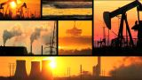Montage Of Moving Images Of Fossil Fuel Energy & Power Sources stock footage