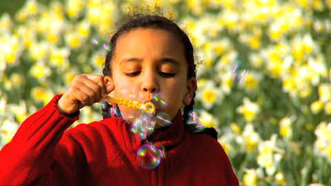 Blowing Bubbles Footage