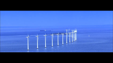 Collection of images of sources of clean environmental power Stock Video Footage