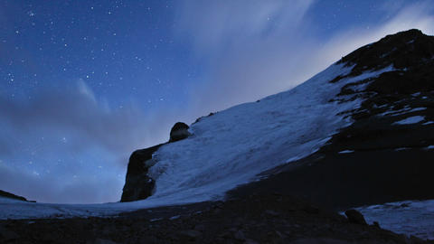 Aconcagua Time lapse Night - Stunning galaxies at high camp Stock Video Footage