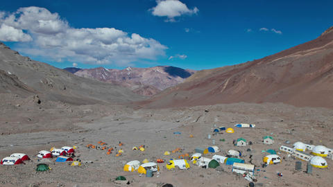 Aconcagua Time Lapse Wide shot of Plaza Argentina Footage