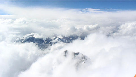 Looking down through clouds to Tibet Footage