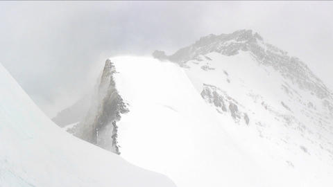 Blowing snow on a ridge Stock Video Footage