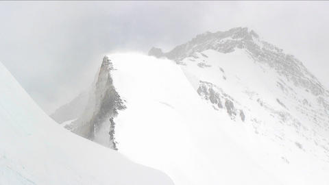 Blowing snow on a ridge Footage