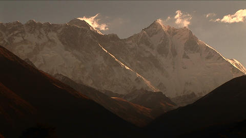 Mount Everest and Lhotse from afar Footage