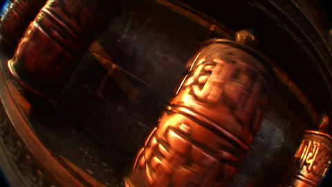 Prayer wheels in motion Stock Video Footage