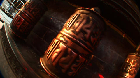 Prayer wheels in motion Footage