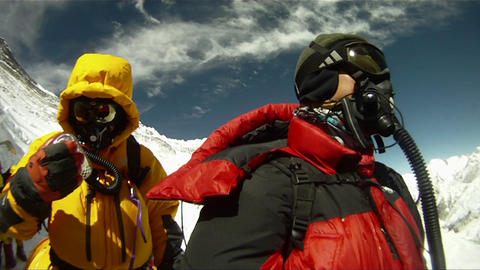 Climbers about to leave camp three Footage
