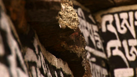 Close-up of Sanskrit stones Stock Video Footage