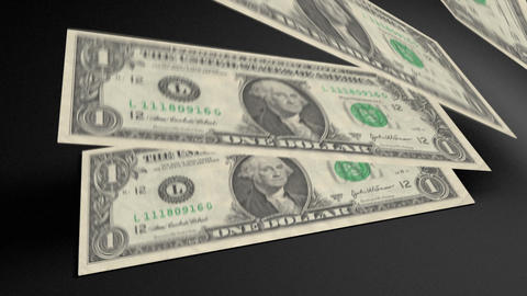 Dollar bills count 01 Animation