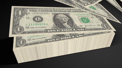 Dollar bills count 01 Stock Video Footage