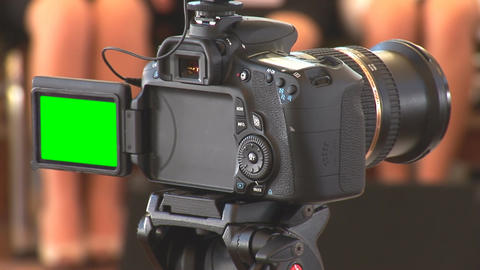DSLR Video With Green Screen stock footage
