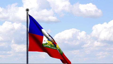 Animated Flag of Haiti Stock Video Footage