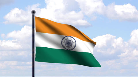 Animated Flag of India / Indien Animation