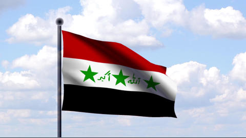 Animated Flag of Iraq / Animierte Flagge von Irak Animation