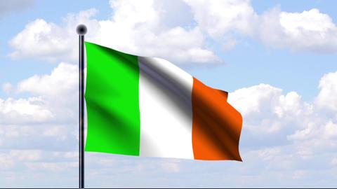 Animated Flag of Ireland / Irland Animation