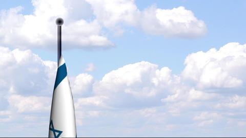 Animated Flag of Israel Stock Video Footage