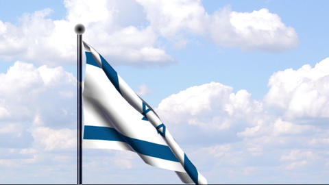 Animated Flag of Israel Stock Video Footage