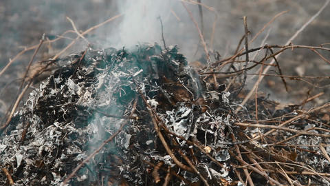 burning trash Stock Video Footage