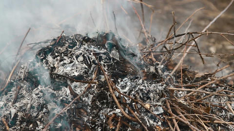 burning trash Footage
