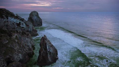 Rocks and ocean Stock Video Footage