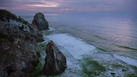 Rocks and ocean Stock Video Footage