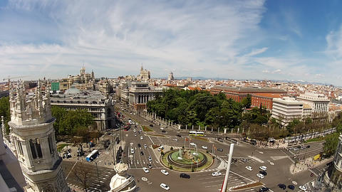 Plaza Cibeles Stock Video Footage