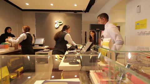 DUBAI - APRIL 25: Dubai Mal, Cash Control, April 2 Stock Video Footage