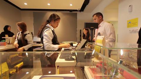 DUBAI - APRIL 25: Dubai Mal, Cash Control, April 2 Footage