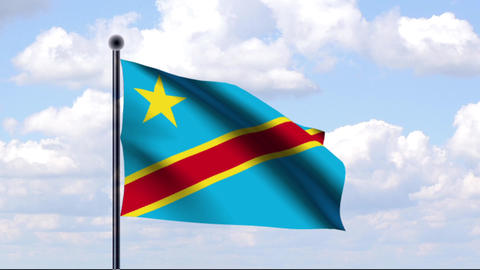 Animated Flag of Democratic Republic of the Congo Animation