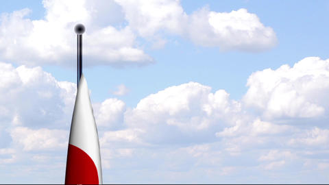 Animated Flag of Japan Stock Video Footage