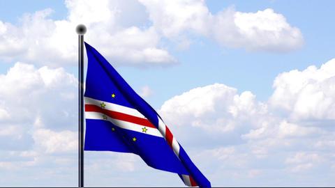 Animated Flag of Cape Verde / Kap Verde Stock Video Footage