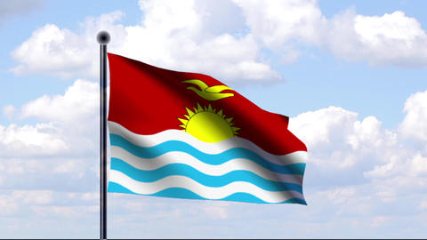 Animated Flag of Kiribati Animation
