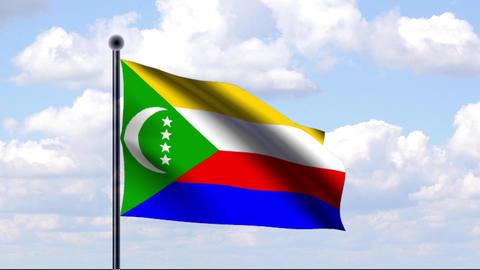 Animated Flag of Comoros / Komoren Animation