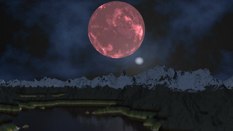 Pink moon and UFO Animation