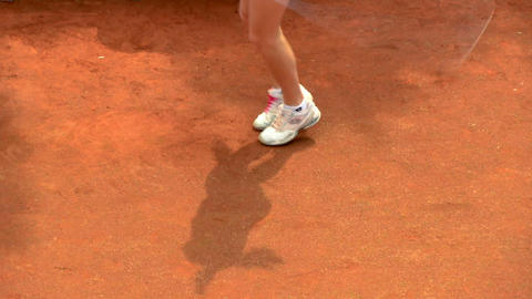 tennis shadow 03 Stock Video Footage