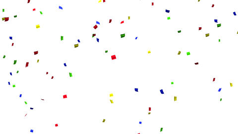 confetti 003 colorful1 Stock Video Footage