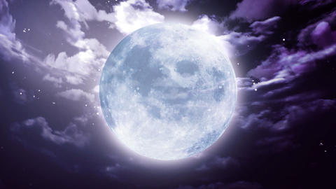 Large Halloween moon Stock Video Footage