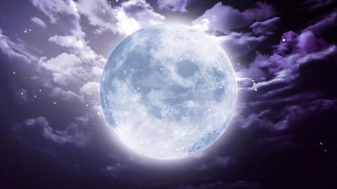 Large Halloween moon Stock Video Footage