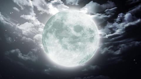 Large Halloween moon Animation