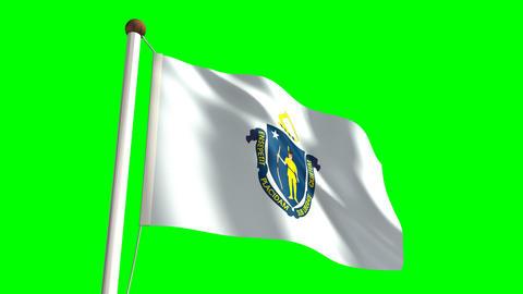 Massachusetts flag Stock Video Footage