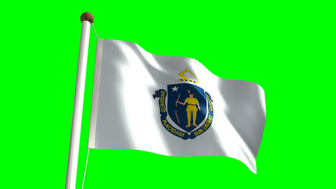 Massachusetts flag Stock Video Footage