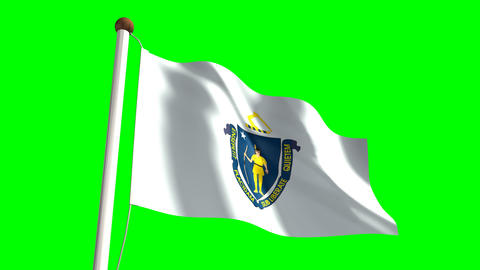 Massachusetts flag Animation