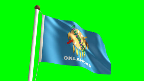 Oklahoma flag Stock Video Footage