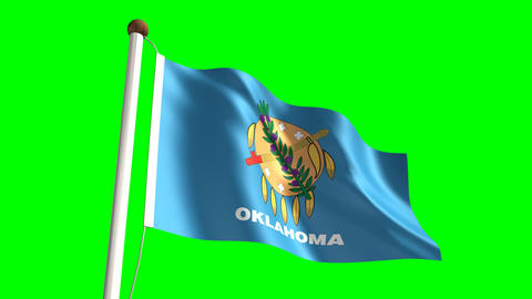 Oklahoma flag Animation