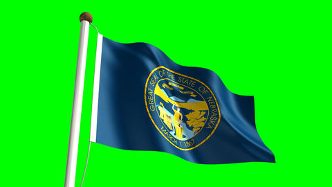 Nebraska flag Stock Video Footage