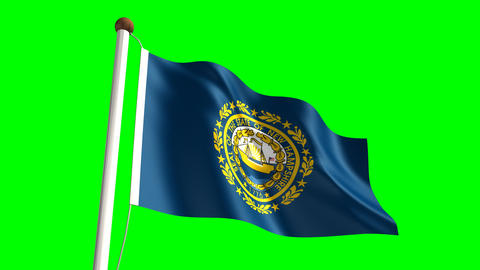 New Hampshire flag Animation