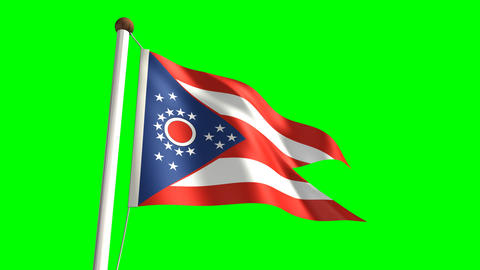 Ohio flag Stock Video Footage